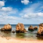 Secluded beach near Albufeira, Portugal — Stock Photo