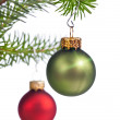 Decorated Xmas tree — Stock Photo