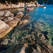 Sea shore at Kalamitsi, Sithonia, Greece — Stock Photo