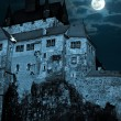 Medieval castle at night — Stockfoto