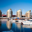 Limehouse Basin in East London — Stock Photo
