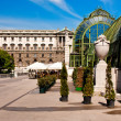 Hofburg Palace and Butterfly Greenhouse (Schmetterlinghaus) — Stock Photo