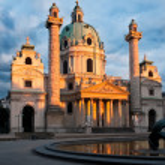 St. Charles church in Vienna, Austria — Stock Photo