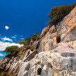 Stock Photo: Sandstone cliffs of Sithonia