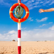 Hand reaches for Life Buoy — Stockfoto