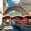 Canary Wharf train station in London — Stock Photo
