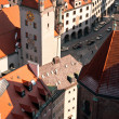 Old Town Hall and roofs of Munich — Stock Photo