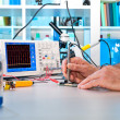 Testing of electronic components with oscilloscope — Stock Photo #33482941