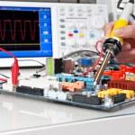 Electronic equipment repair — Stock Photo