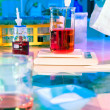 Making buffer in scientific lab — Stock Photo