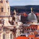 Dresden, closeup on Frauenkirche — Stock Photo