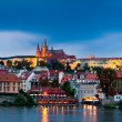 Prague Castle in evening — Stock Photo