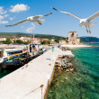Port Ouranoupolis, Mount Athos, Greece — Stock Photo