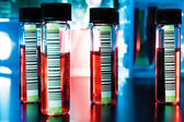 Barcodes on medical samples — Stock Photo
