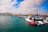 Marina in Northern Fuertventura — Stock Photo