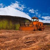 Dirt roller — Stock Photo
