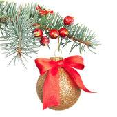 Vánoční ozdoby izolované na bílém — Stock fotografie