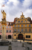 Haus zum Roten Ochsen, Fish Market Square in Erfurt — Stock Photo