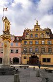 Haus zum Roten Ochsen, Fish Market Square in Erfurt — Stock Photo