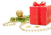 Decorated Christmas present — Stock Photo