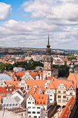 Dresden, areial view over Old Town — Stock Photo