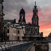Hofkirche church in Dresden, Saxony, Germany — Stock Photo