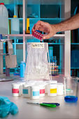 Scientific waste in modern lab — Stock Photo