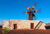 Fuerteventura, traditional windmill — Stock Photo
