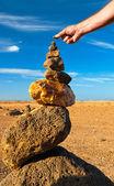 Buliding pyramid — Stock Photo