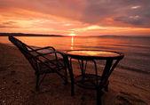 Aegean Sea at sunrise — Stock Photo