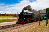 Historical steam train in Northern Germany — Stock Photo