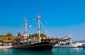 Touristic sailing boat, Sithonia, Greece — Stock Photo