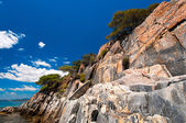 Sandstone cliffs of Sithonia — Stock Photo