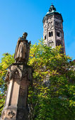 Naumburg Catherdal tower — Stock Photo