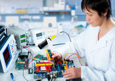 Testing of electronic equipment — Stock Photo