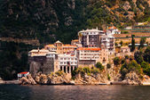 Monastery Agia Grigoriou on mount Athos — Stock Photo