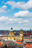 Munich areal view on Theatinerkirche — Stock Photo