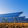 Solar panels for power production — Stockfoto