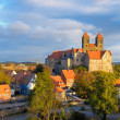 Quedlinburg Castle complex, Quedlinburg, Saxen Anhalt, Germany — Stock Photo