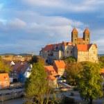 Quedlinburg Castle complex, Quedlinburg, Saxen Anhalt, Germany — Stock Photo