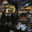 Ski resort Obertauern in Austria in the evening — Foto de Stock