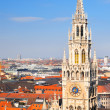 Munich city center with New Town Hall tower — Stock Photo