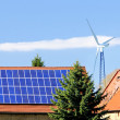 Alternative energy sources in German countryside — Stock Photo