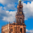 Hofkirche church in Dresden — Stock Photo