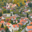 Bird view over Wernigerode town — Stock Photo
