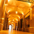 Stock Photo: Brightly lit historical passage