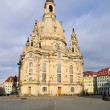 Dresden, Frauenkirche after the rain — Stock Photo