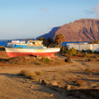 An abandoned boat by Pedro Barba on Graciosa island — Stock Photo
