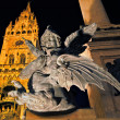 A statue in front of New Town Hall, Marienplatz, Munich — Stock Photo #33812115