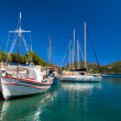 Greece, fishermen boats — Stock Photo